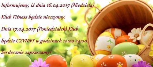 Godziny otwarcia Klubu w okresie Świąt Wielkanocnych :) Zapraszamy! :)